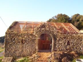 Chevronnage de la toiture